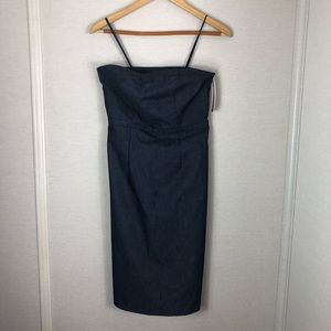NWT Merona strapless blue dress!